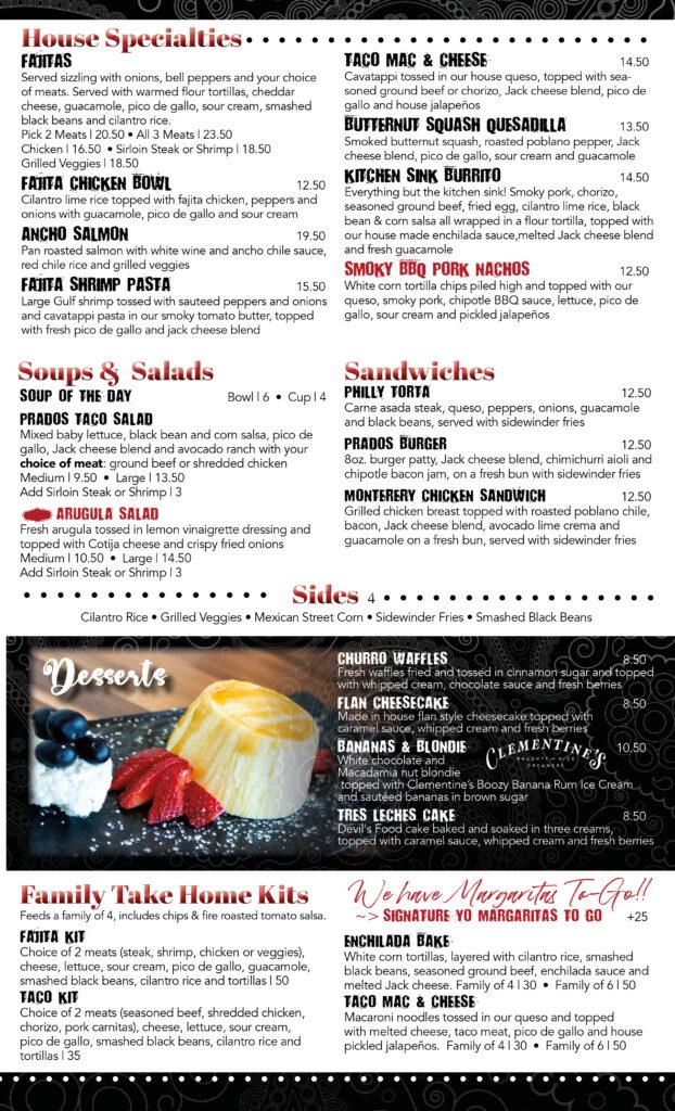 prados menu - 3